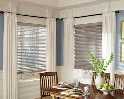 homely ideas for dining room window treatmenst with grey streaky