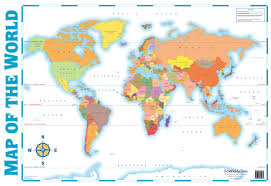 World Map Equator by Map Of The World Wall Chart Amazon Co Uk Schofield U0026 Sims Ltd