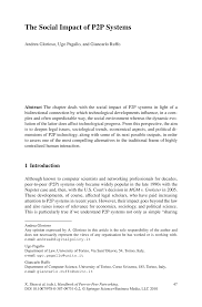 the social impact of p2p systems springer