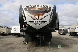 heartland cyclone 3513 5th wheel toy hauler sales