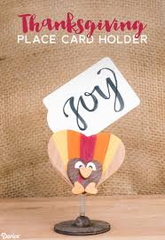thanksgiving place cards diy turkey card holders darice