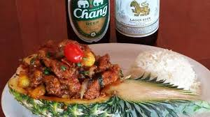 singha cuisine siam crispy chicken with singha and chang