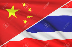 Flag Of Thailand Flags Of China And Kingdom Of Thailand Blowing In The Wind Part