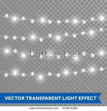 white garland white garland christmas lights vector isolated stock vector