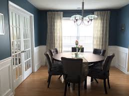 circular dining room elegant blue dining room in front of window decorated circle