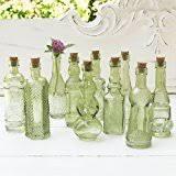Mini Vases Bulk Amazon Com Luna Bazaar Small Vintage Glass Bottle Set 7 Inch