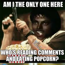 Meme Eating Popcorn - michael jackson is reading comments and eating popcorn again