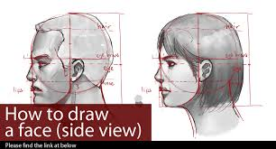tutorial how to draw a face side view by lekker on deviantart