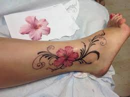 leg flower tattoo design for men and women tattoo images