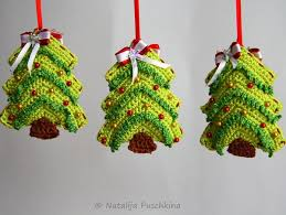 catchy collections of crochet christmas tree decorations perfect