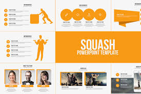 Squash Powerpoint Template Presentation Templates Creative Market Ppt Tempelate