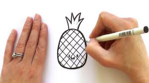 how to draw a cartoon pineapple youtube