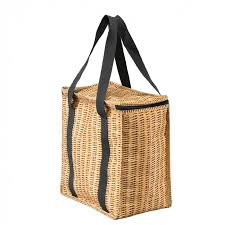 perfect faux wicker shopping tote bag panier cece u0026 me home