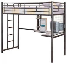 Black Bunk Bed With Desk Black Loft Bed With Desk 1 Black Metal Guard Loft Bunk Bed