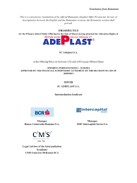 a dep last ipo prospectus plaster international financial