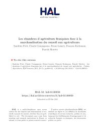 conseiller agricole chambre d agriculture les chambres d agriculture françaises à la marchandisation du