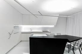 kitchen futuristic black and white kitchen features angled white