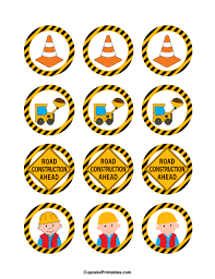 construction cake toppers printable construction cupcake toppers