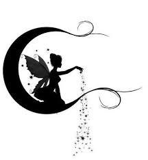 gute nacht basteln moon dust silhouettes fairy