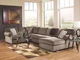 TAMPALARGE MODERN BROWN MICROFIBER LIVING ROOM SOFA COUCH CHAISE - Microfiber living room sets