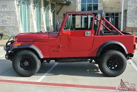 red jeep 2 door jeep cj7 base sport utility 2 door 2 5l