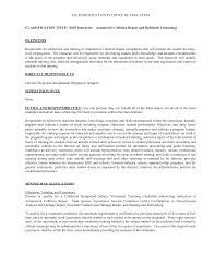 ideas collection vocational instructor cover letter for your