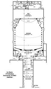 fox theater floor plan fox theatre venue specs