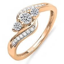 swirl engagement rings 0 50 carat ctw 14k gold diamond swirl engagement 3