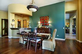Dining Room Accents This Turquoise Accent Wall Really Makes This Formal Dining Room In