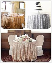 Where To Buy Table Linens - 2017 buy from china 6ft gold round sequin fabric table cloth