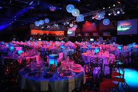 illuminated tables added to the event s northern lights theme