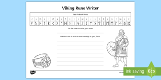 write your name in viking runes worksheet viking runes