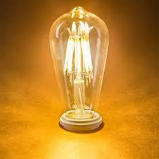 led light bulb wattage chart st18 led filament bulb 70 watt equivalent led vintage light bulb
