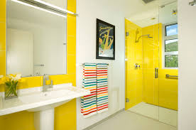 black and yellow bathroom ideas 10 ways to add color into your bathroom design freshome com
