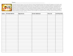 best photos of church sign up sheet template potluck sign up