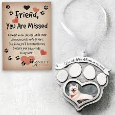 pet memorial ornament paw prints on
