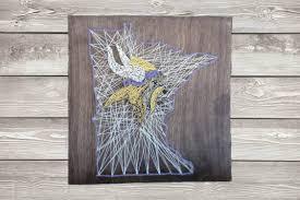 minnesota vikings state string art sign