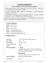 Control M Resume Resume U0026 Certificates Yasser M Instrumentation U0026 Control Engr No U2026