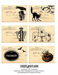 ephemera u0027s vintage garden free weekly printable creepy postcards