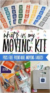 what u0027s in my moving kit u0026 free printable moving labels free