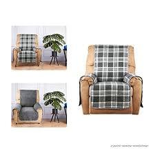 housse de canapé 1 place kinlo housse de canapé 1 place à carreaux tenir chaud gris en coton