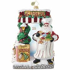 santa bakery ornament by christopher radko