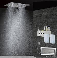 2017 bathroom shower set concealed shower mixer with wire shelving