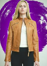 buy biker jacket higgs leather jackets buy trudie ladies tan leather biker