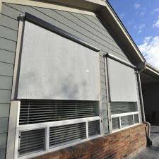 Exterior Shades For Patios Pvc Outdoor Shades Shades The Home Depot