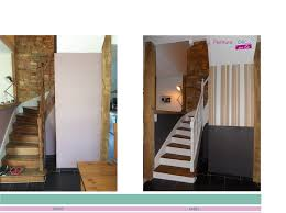 maison rénovée avant après cage escalier peinture déco par éli