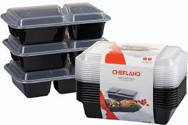 Potato Storage Container Kitchen Amazon Com Chefland 2 Compartment Microwavable Food Container