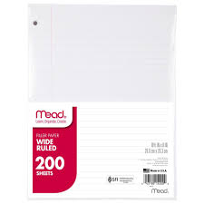 writing paper with picture box amazon com mead filler paper loose leaf paper wide ruled 200 mead filler paper 200 count wide ruled 10 1 2