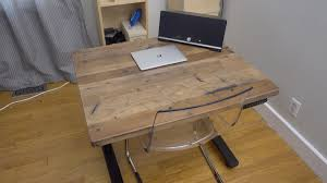 Building A Wooden Desk Top by Hands On Uplift Adjustable Height Standing Desk Features Real