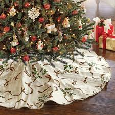 lenox nouveau tree skirt plaid ribbon 60